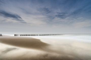 Een kustfoto gemaakt met filters