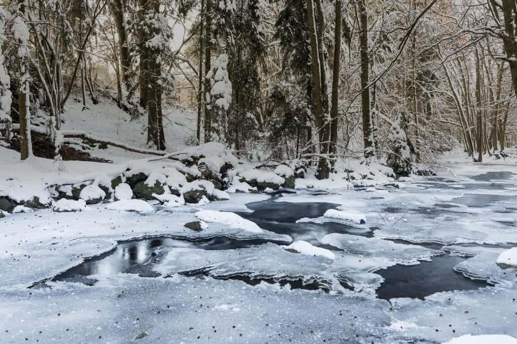De prachtige hoge venen in de winter