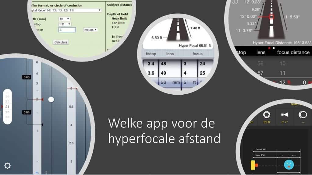 App voor hyperfocale afstand