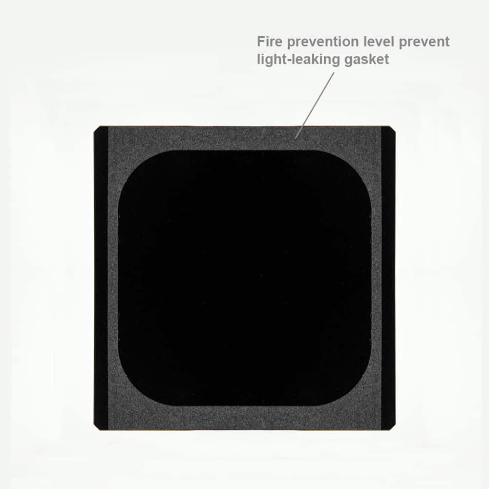 Weinig tot geen lichtlekkage met NiSi filters