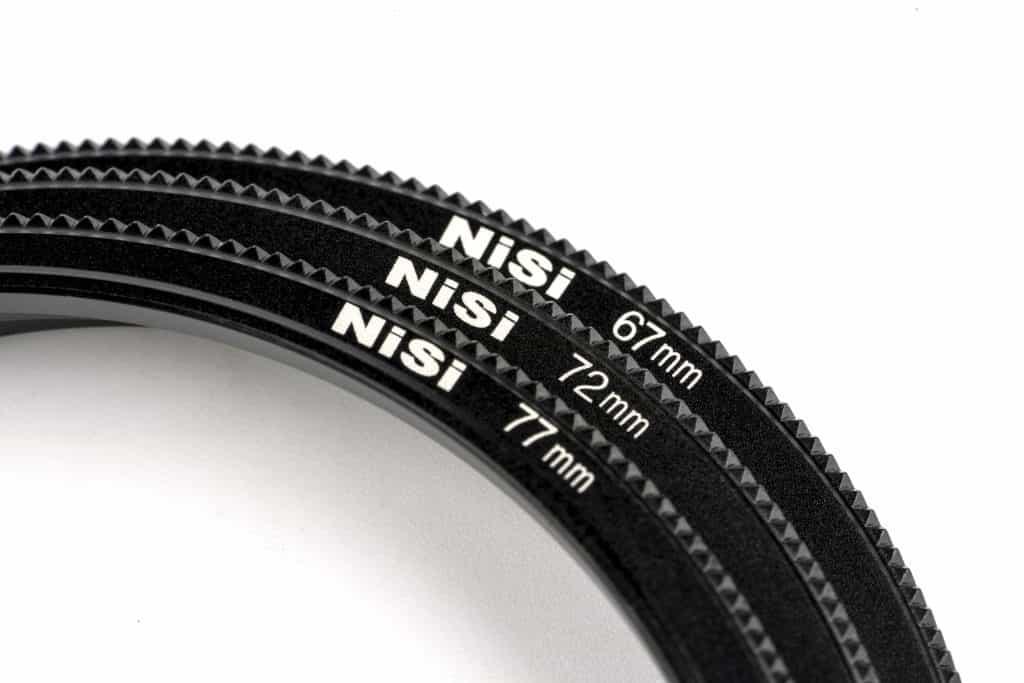 Dit zijn enkele adapterringen van NiSi.