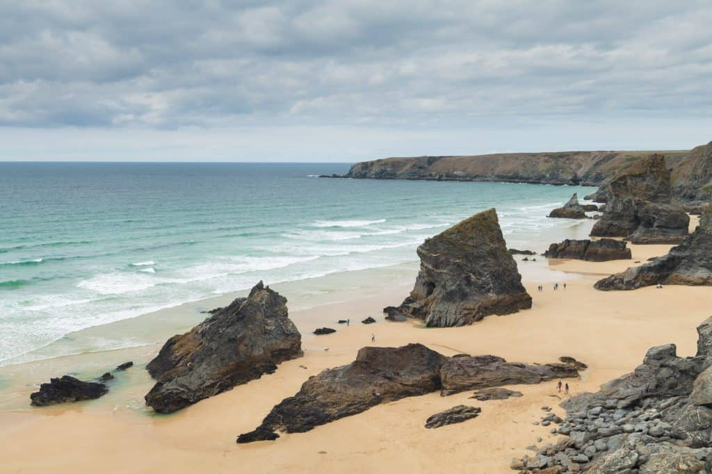 Foto zonder grijsfilter gemaakt in North Cornwall