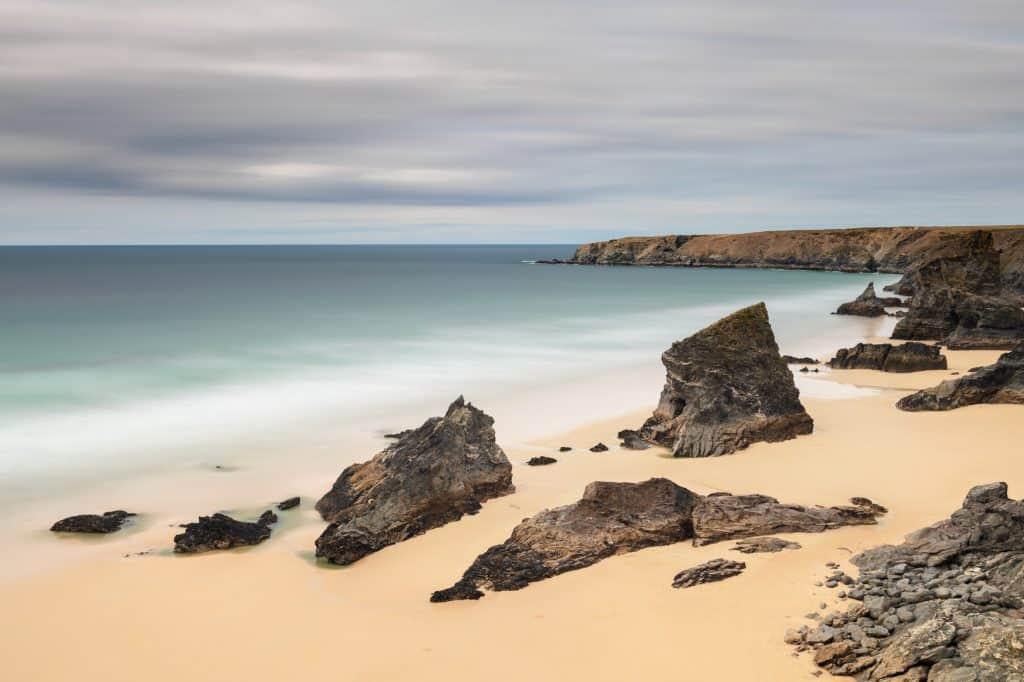 Foto met grijsfilter gemaakt in North Cornwall
