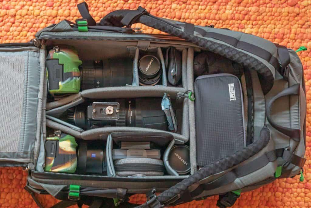 Onze indeling van de Mindshift Backlight Elite 45L cameratas