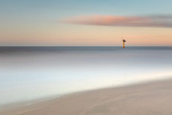 Mooie foto van de zee met sluitertijd effect