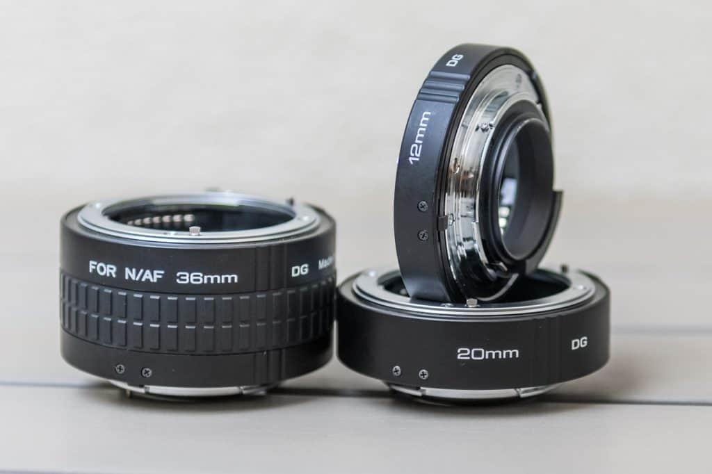 De Kenko tussenringen voor Nikon F: 12mm, 20mm en 36mm
