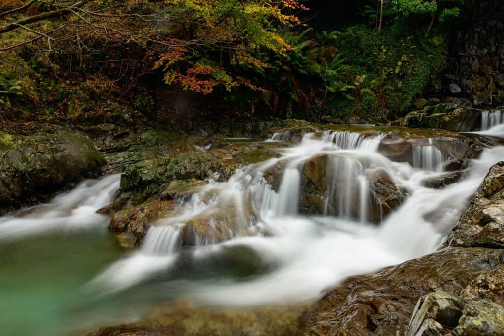 Een waterval in het Lake District, sluitertijd 8 seconden