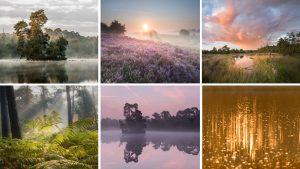 Voorbeeldfoto's voor natuurfotografie coaching landschapsfotografie