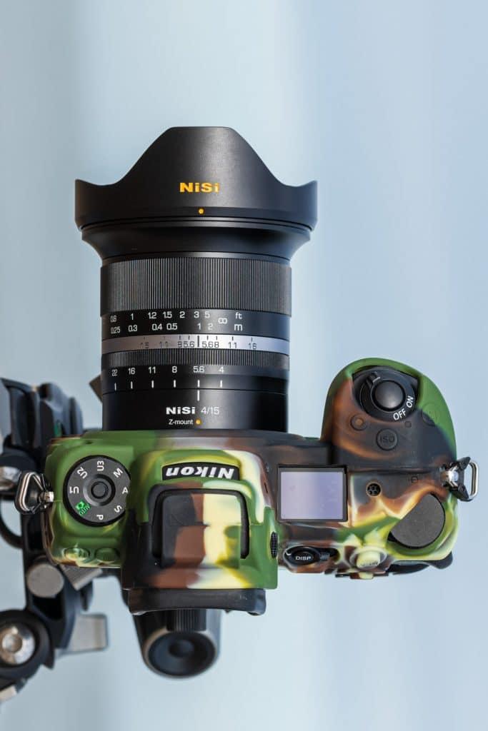 Het NiSi MF 15mm 4.0 ASPH objectief op de Nikon Z7.
