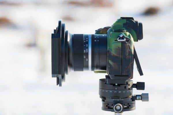 Je hebt geen last van vignettering door filters o het NiSi MF 15mm objectief