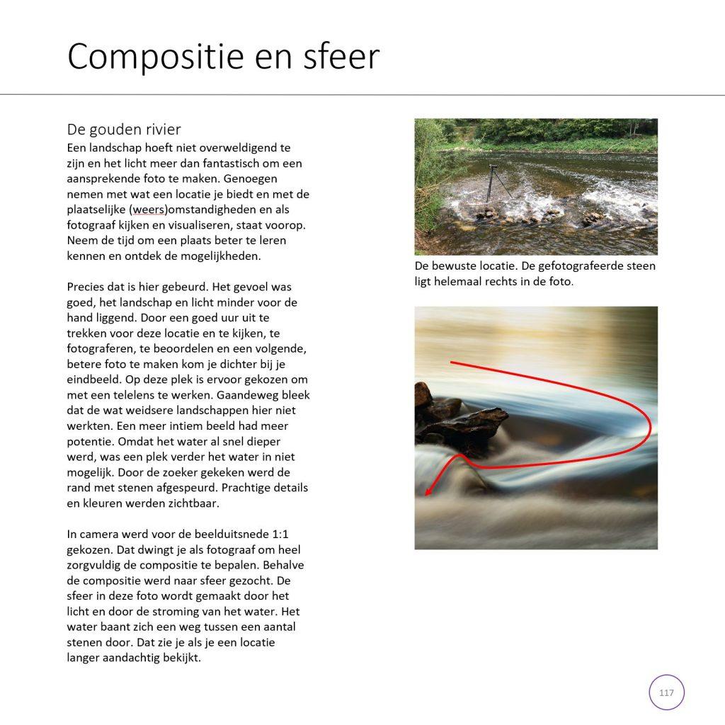 Een voorbeeldpagina uit het boek Fotograferen is een Kunst