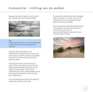 Een voorbeeldpagina uit het boek Fotograferen met lange sluitertijden en filters