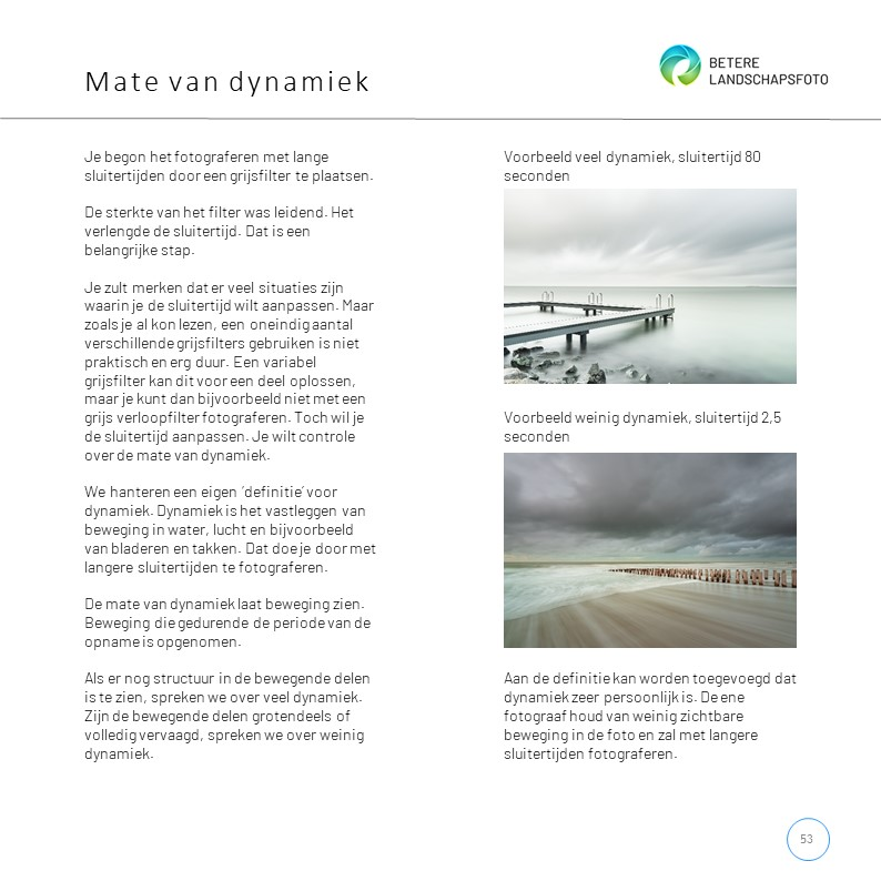 Uit het e-book 'Lange sluitertijden met filters': dynamiek in beeld brengen