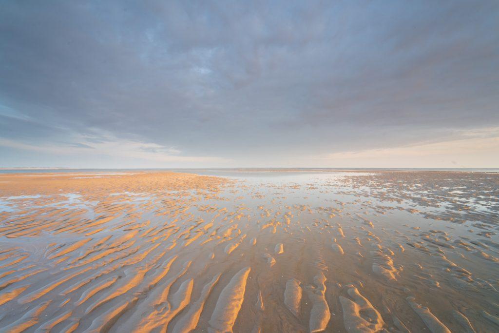 Zonsondergang op de Tweede Maasvlakte